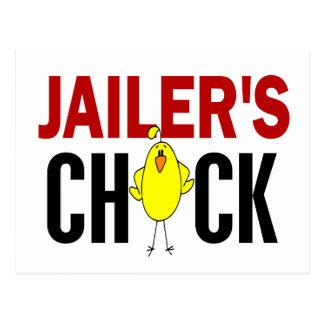 JAILER'S CHICK POSTCARD