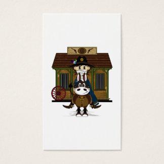 Jailhouse Cowboy on Horse Bookmark Business Card