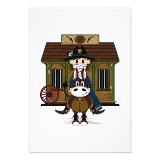 Jailhouse Cowboy on Horse RSVP Card Invite