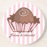 J'aime Chocolat Drink Coaster