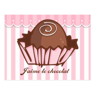 J'aime Chocolat Postcard Invitation