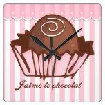 J'aime Chocolat Wall Clock