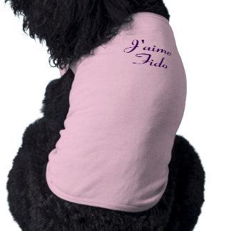 J'aime Fido - I Love Fido - Customizable Doggie Shirt