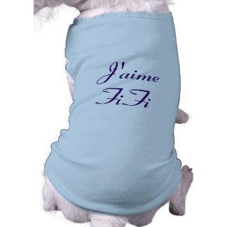 J'aime FiFi - I Love Fifi Pet T Shirt
