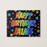 "[ Thumbnail: ""Jaime"" First Name, Fun ""Happy Birthday"" Jigsaw Puzzle ]"