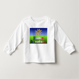 J'aime La Nature I Love Nature in French Toddler T-shirt