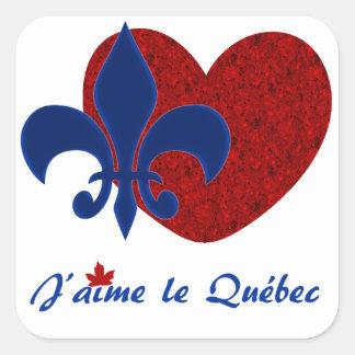 J'aime le Québec Square Sticker
