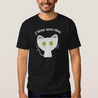 J'aime mon chat tee shirt