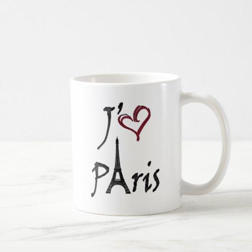 j'aime Paris Classic White Coffee Mug
