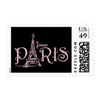 J'aime Paris (Dark) Postage
