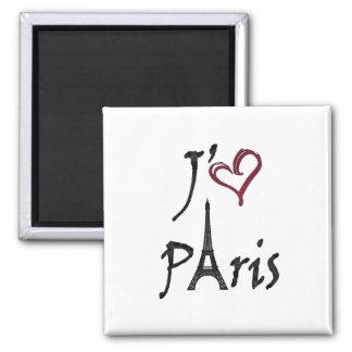 j'aime París Imán Cuadrado