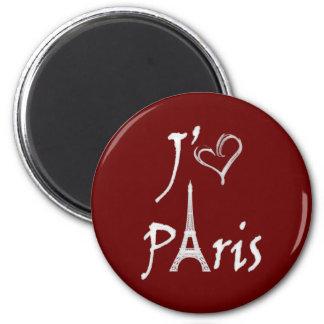 j'aime París Imán Redondo 5 Cm