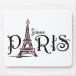 J'aime París Mousepad Tapete De Raton