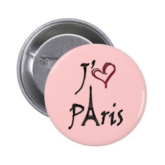 j'aime Paris Pinback Button