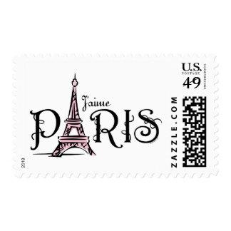 J'aime Paris Postage