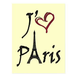 j'aime Paris Postcard