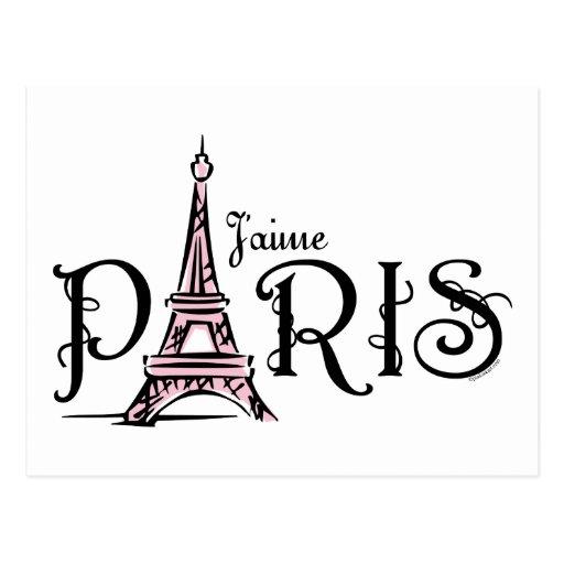 Aime la paris i love paris postcard