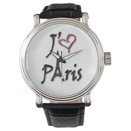 j'aime París Reloj