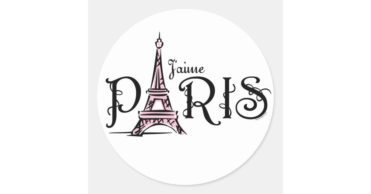 J Aime Paris Sticker Zazzle