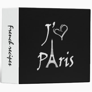j'aime Paris Vinyl Binder