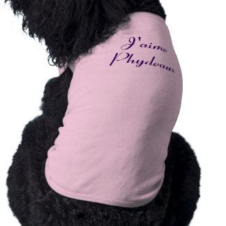 J'aime Phydeaux - I Love Fido Dog Tee Shirt
