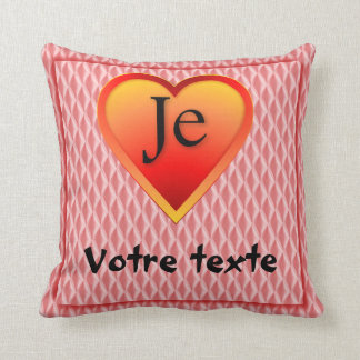 J'aime: Votre texte Throw Pillows
