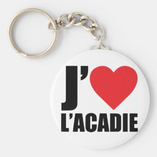 J'aimeL' acadie Keychain