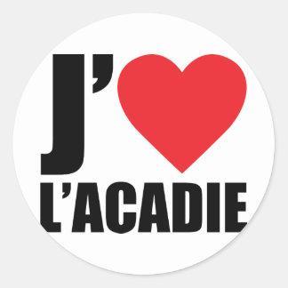 J'aimeL' acadie Sticker