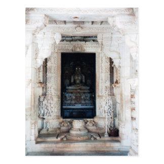 Jain buddha postcard