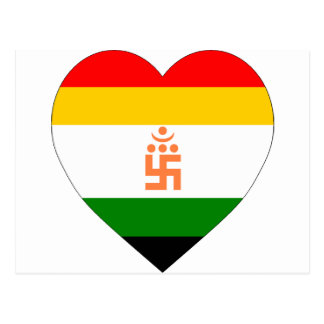 Jain Flag Heart Postcard