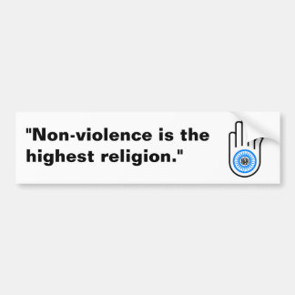 Jain Hand Bumper Sticker