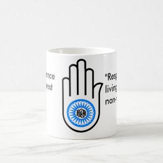 Jain Hand Classic White Coffee Mug