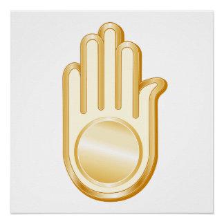 Jain Symbol Perfect Poster