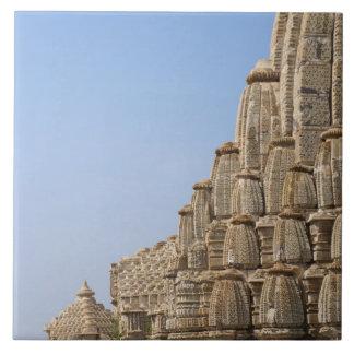 Jain temple in Chittorgarh Fort, India Ceramic Tile