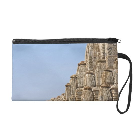 Jain temple in Chittorgarh Fort, India Wristlet Purse