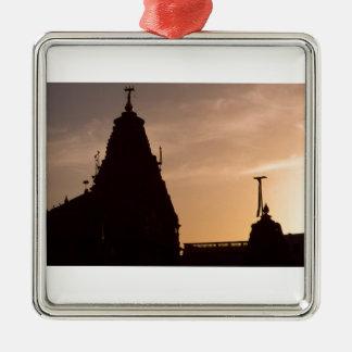 Jain Temples at Sunset, Jaisalmer, India Square Metal Christmas Ornament
