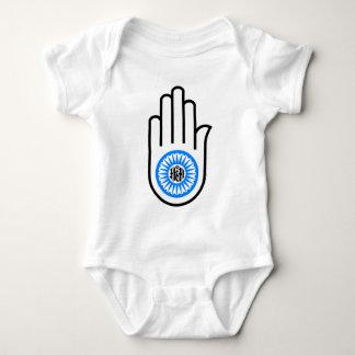 Jainism Symbol Hand and Wheel Reading Ahimsa Baby Bodysuit