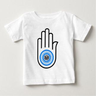 Jainism Symbol Hand and Wheel Reading Ahimsa Baby T-Shirt