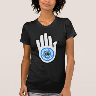 Jainism Symbol Hand and Wheel Reading Ahimsa Tee Shirt