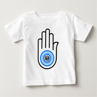 Jainism Symbol Hand and Wheel Reading Ahimsa Tee Shirts