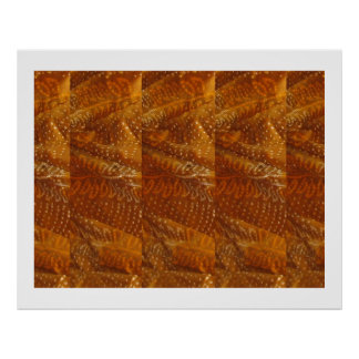 Jaipur Golden Fabric Patchwork  : ENJOY  share JOY Poster