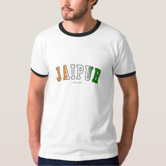 Jaipur in India national flag colors T-Shirt