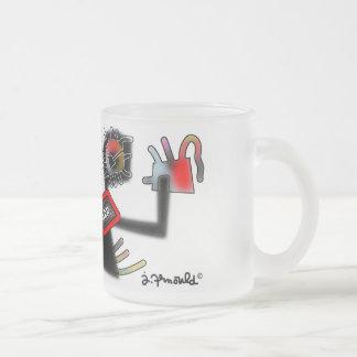 jak arnould 0134 littlemonster frosted glass coffee mug