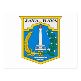 Jakarta Coat of Arms Postcard