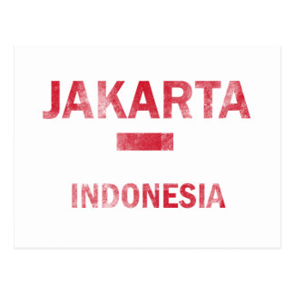 Jakarta Indonesia designs Postcards