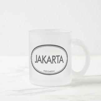 Jakarta, Indonesia Frosted Glass Coffee Mug