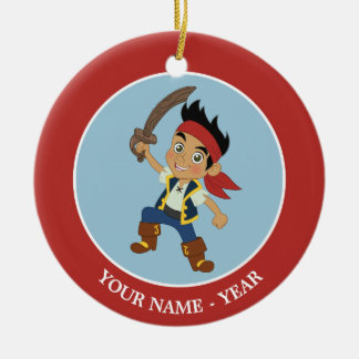 Jake 2 Double-Sided ceramic round christmas ornament