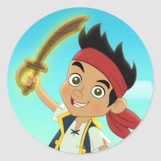 Jake and the Never Land Pirates | Captain Jake Classic Round Sticker