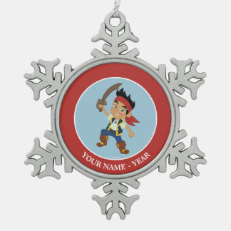 Jake and the Never Land Pirates | Captain Jake Snowflake Pewter Christmas Ornament