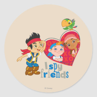 Jake and the Never Land Pirates | I Spy Friends Classic Round Sticker